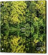 Ogle Lake Reflections 2 Acrylic Print