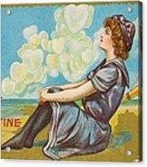 Oh Be My Valentine Postcard Acrylic Print