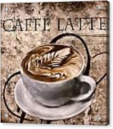 Oh My Latte Acrylic Print by Lourry Legarde