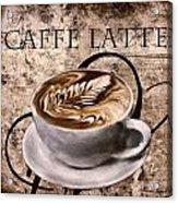 Oh My Latte Acrylic Print by Lourry Legarde