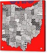 Ohio Map Red Acrylic Print