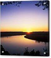 Ohio River At Sunrise Acrylic Print by David Davis