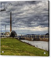 Ohio River Lock Acrylic Print