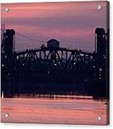 Ohio River Railroad Bridge Acrylic Print