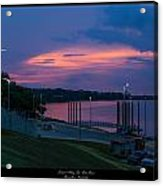 Ohio River Sunset Acrylic Print