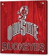 Ohio State Buckeyes Barn Door Acrylic Print