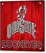 Ohio State Buckeyes Barn Door Vignette Acrylic Print