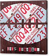 Ohio State Buckeyes Football Recycled License Plate Art Acrylic Print