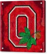 Ohio State Buckeyes On Canvas Acrylic Print