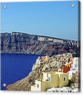 Oia Panoramic, Santorini, Greece Acrylic Print