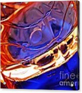 Oil And Water 15 Acrylic Print by Sarah Loft