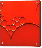 Oil And Water Drops Background Acrylic Print