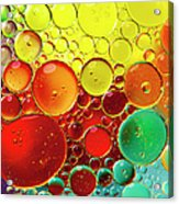 Oil Bubbles In Water Acrylic Print