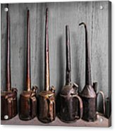 Oil Can Collection Acrylic Print by Debra and Dave Vanderlaan