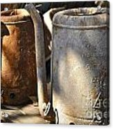 Oil Cans Picking Acrylic Print