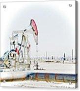 Oil Field Acrylic Print