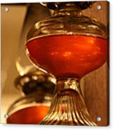 Oil Lamp In Red Acrylic Print