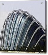 Oil Painting - One Of The Conservatories Of The Gardens By The Bay In Singapore Acrylic Print