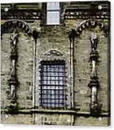 Oil Painting - Renaissance Styled Statues On Royal Palace In Stirling Castle Acrylic Print