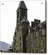 Oil Painting - Repair Of The Benedictine Abbey At Fort Augustus Now Apartments Acrylic Print
