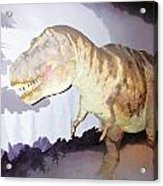 Oil Painting - Thankfully This T Rex Is A Dummy Acrylic Print