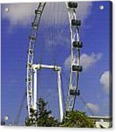 Oil Painting - The Wheel Of Singapore Flyer Acrylic Print