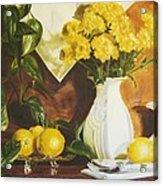 oil painting print of art for sale Golden Lemons  Acrylic Print