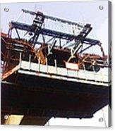 Oil Painting - Bridge As A Part Of Construction Acrylic Print