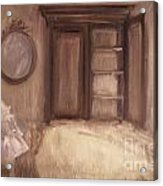 Oil Painting Of A Bedroom/ Digitally Painting Acrylic Print