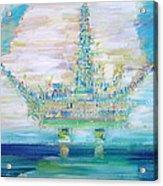 Oil Platform Acrylic Print