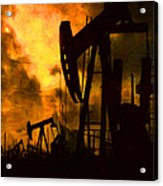 Oil Pumps Acrylic Print
