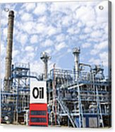 Oil Refinery And Industries Acrylic Print