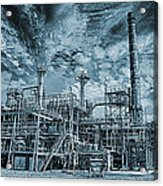 Oil Refinery In High Definition Acrylic Print