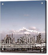 Oil Refinery Acrylic Print by Olivier Le Queinec