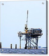 Oil Rig In The Gulf Acrylic Print