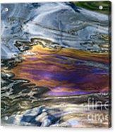 Oil Slick Abstract Acrylic Print by Sheldon Kralstein
