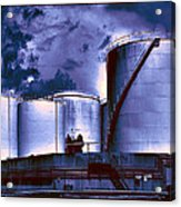Oil Storage Tanks 2 Acrylic Print