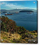 Oil Tankers Waiting Acrylic Print by Robert Bales