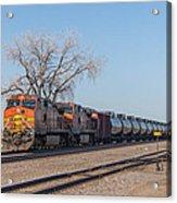 Bnsf Oil Train In Dilworth Minnesota Acrylic Print
