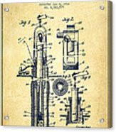 Oil Well Pump Patent From 1912 - Vintage Acrylic Print