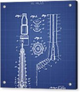 Oil Well Reamer Patent From 1924 - Blueprint Acrylic Print