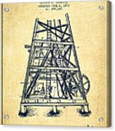 Oil Well Rig Patent From 1893 - Vintage Acrylic Print