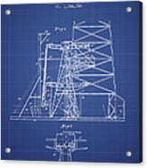 Oil Well Rig Patent From 1917 - Blueprint Acrylic Print