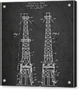 Oil Well Rig Patent From 1927 - Dark Acrylic Print