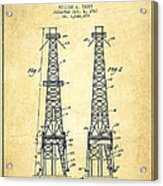 Oil Well Rig Patent From 1927 - Vintage Acrylic Print