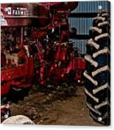 Oiled Tractor Acrylic Print