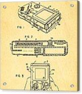 Okada Nintendo Gameboy 2 Patent Art 1993 Acrylic Print