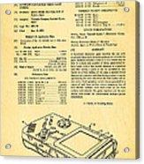 Okada Nintendo Gameboy Patent Art 1993 Acrylic Print