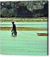 Okinawan Fisherman Acrylic Print