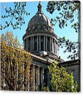 Oklahoma City Capitol In The Spring Acrylic Print